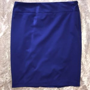 EUC Liz Claiborne Royal Blue Pencil Skirt